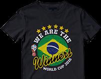 FIFA World Cup 2018 Russia T-shirt Designs Bundle