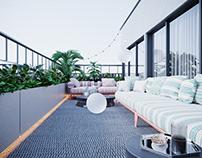 Терраса для двухуровневой квартиры в ЖК San-Francisco