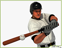 3D Model: White Baseball Batter HQ