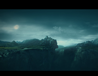 3D matte painting_SPIRIT WARRIOR VFX