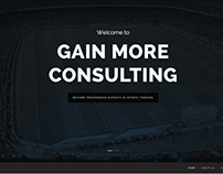 Gain More Consulting Website Design Demo