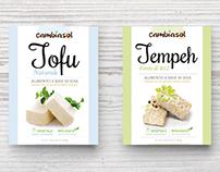 Tofu and Tempeh, packaging design