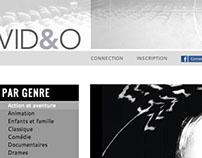Design d'interface - site de films et vidéos en ligne