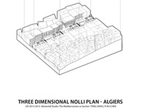Three Dimensional Nolli Plan- Algiers