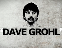 Kinetic Typography: Dave Grohl