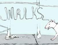 Dog Walks Illustration