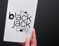 The BlackJack Cafe — menu and communication kit