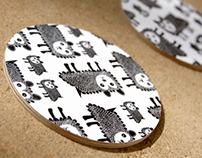 """Coasters """"Fårhund"""""""