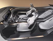 Chery Tiggo Coupe Concept Interior 2017