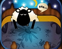A sheep's sleep button