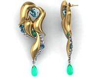 Earrings made in Matrix