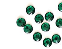 Emerald, natural stones.