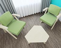 Clapp chair and table 3d viz