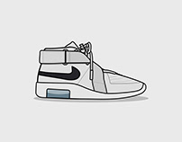 Sneaker Illustration Series: Air Fear of God Raid