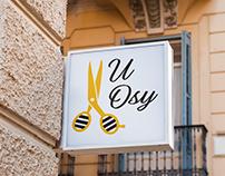 """Projekt logo salonu fryzjerskiego """"U Osy"""""""