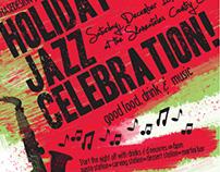 Holiday Jazz Celebration Invitation