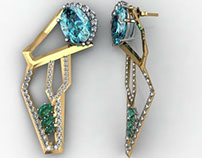 Earrings made in Matrix