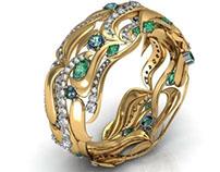 Ring made in matrix