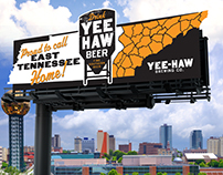 Yee-Haw Brewing Co. Billboard Concepts