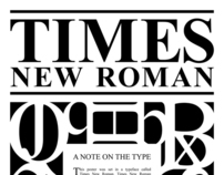 Times New Roman Type Poster