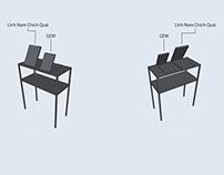 2D & 3D Floor and Display bookshelves schematics