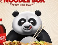 Panda character illustration for Noodle Box