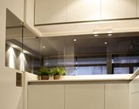 Una cocina con vistas