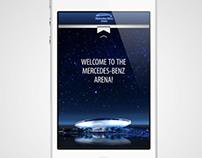 Mercedes-Benz Arena app concept