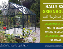 Halls 8x6 Greenhouse with Toughened Glass | 800 098 887