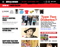 Web design: Redesign of the National Enquirer's website