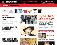 Web design: Redesign of the National Enquirer's website