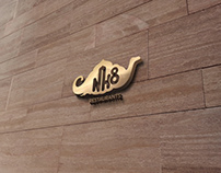 NH8 Restaurant - Logo, Branding, Identity Design