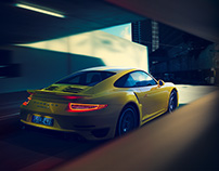 Porsche 911 Turbo S - CGI | Yellow not mellow...