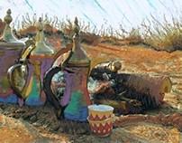 Bedouin scene