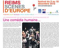 Reims Scènes d'Europe : journal du festival
