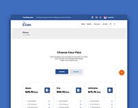 Choose Plan UI Concept