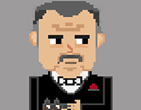 The Godfather Pixel Art