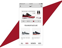 Nike E-Commerce App UI