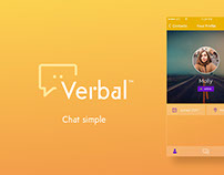 Verbal™ Messaging App - Brand Identity and UI Design