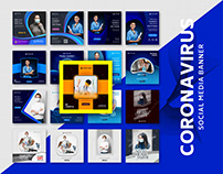Coronavirus Social media banner VOL 01 Free Download