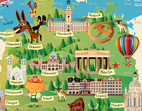 GERMANY CARTOON MAP On Behance - Germany map cartoon