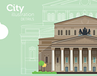 City illustration details