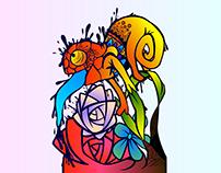 Camaleón y colores