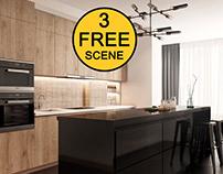 FREE Interior Kitchen- Livingroom 20