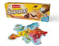 Magnets carte d'Europe SAVANE - BROSSARD