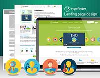 TypeFinder — Landing page design