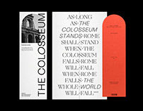 THE COLOSSEUM - Editorial Design
