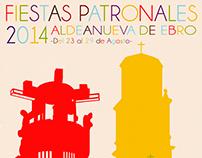 Cartel Fiestas Aldeanueva de Ebro 2014