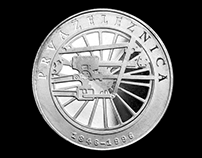 Commemorative Silver Coin | 150Years Of Slovene Railway