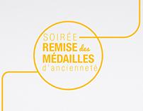 Remise des médailles d'ancienneté